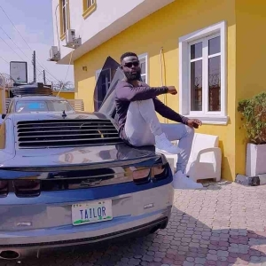 Yomi Casual Strikes A Pose With His Customized Ford Mustang (Photo)